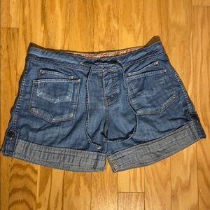 Lucky Brand Button Up High Waisted Jean Shorts